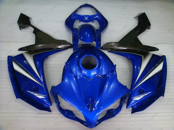 Plastic Fairings YZF R1 08 Bodywork YZFR1 2008 Blue Black Full Body Kits for YAMAHA YZFR1 2007 2007 - 2008