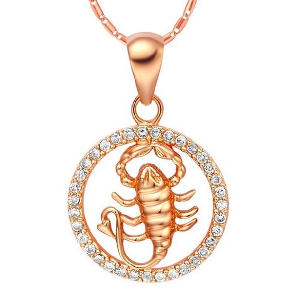 Seltene 12 Sternzeichen Widder Stier Gemini Krebs Löwe Jungfrau Waage Scorpius Sagittarus Steinbock Wassermann Fische Anhänger Gold Halskette