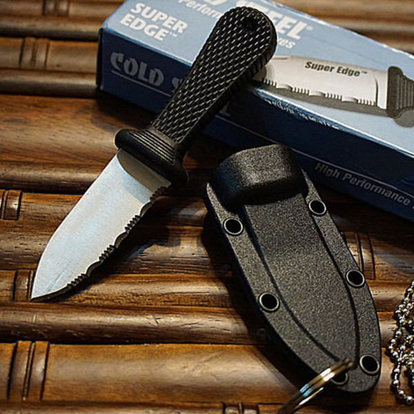 Special Offer Cold Steel Super Edge Knife - 42SS - includes Rugged Survival Secure-Ex Sheath with Original paper box package