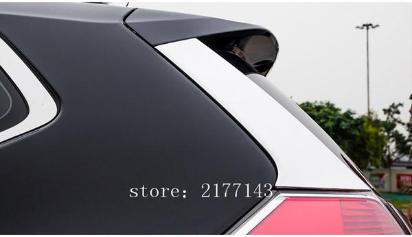 2 pçs / set Acessórios apto para 2014 2015 2016 2017 Nissan X-Trail T32 Desonestos X Trail ABS Chromium Janela Traseira Spoiler Side Cover Guarnição
