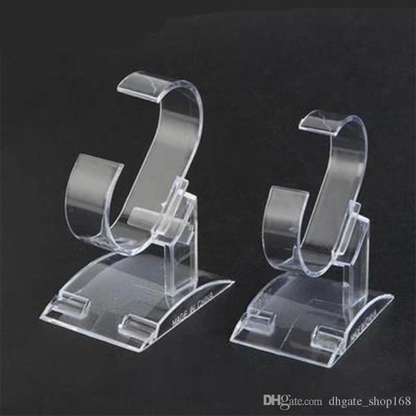 2 pezzi trasparente acrilico display display braccialetto braccialetto espositore cremagliera hyaline