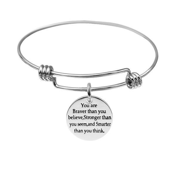 2017 nuovi braccialetti di fascino braccialetti espandibili all'ingrosso del braccialetto dell'acciaio inossidabile per le ragazze come regalo trasporto libero di goccia