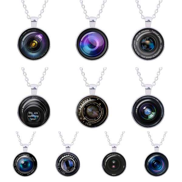 Retro fashion Vintage Camera Lens Necklace art photo long paragraph pendant Fairytale girl sweater chain silver Jewelry women men gifts