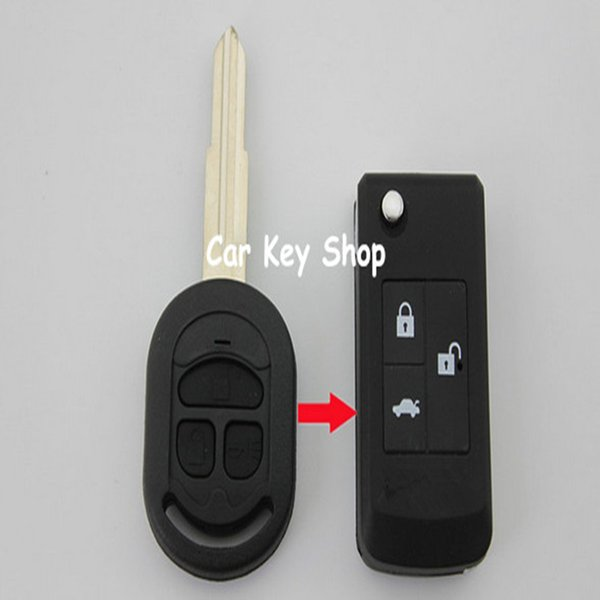 Blank Flip Folding Remote Key Shell Case 3 Button For Buick HRV Excelle Modified Replacement Key Case