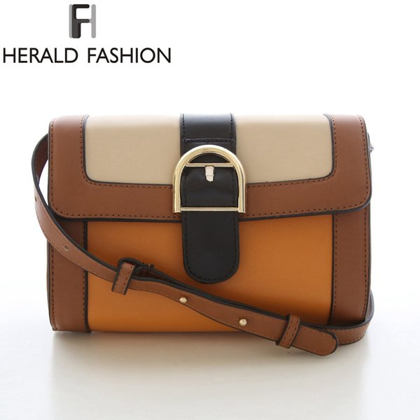 Wholesale- British Style Women Bag Plaid Patchwork Messenger Bags Lock Strap Shoulder Bag Envelope Handbag Bolsa Feminina Herald Fashion