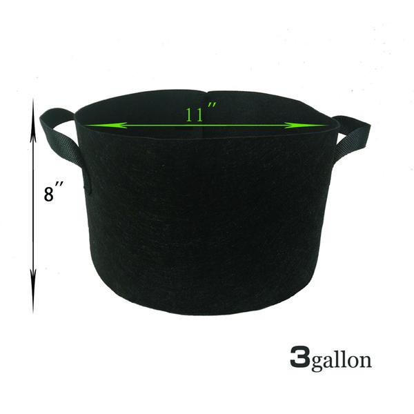 3 Gallon Fabric Grow Bag with handles Raised Bed Tree Plant Pouch Pots Reusable-Fabric-Pot-Plant-Root-planter-Container-Grow-Bag-plant