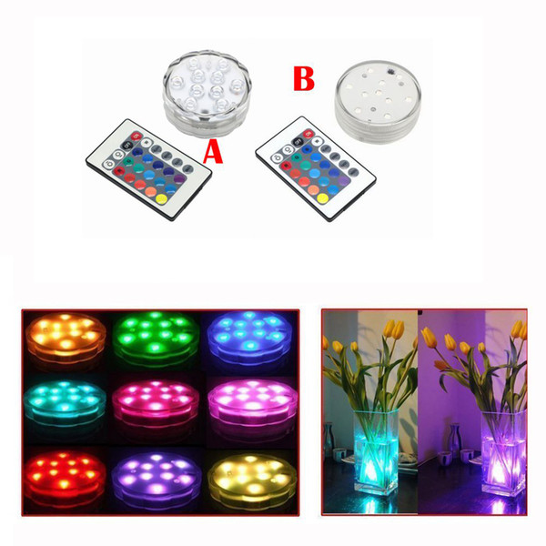 top popular Umlight1688 200Pcs LED Multi Color Submersible Waterproof Vase Base Light With Remote Great For Wedding Party Pond Aquarium Floral 2020