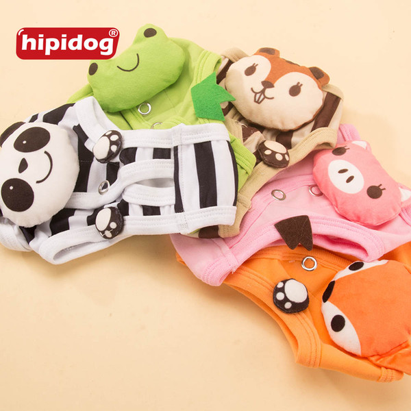 Pet Dogs Cats Physiological Solid Pants Cute Animal Pattern Cotton Pet Dog Sanitary Underwear Diapers Puppy Shorts Washable Underwear Pants