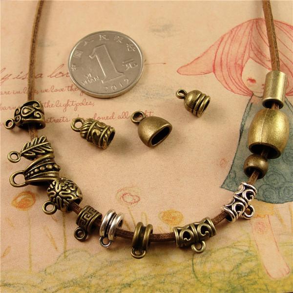 Accesorios de joyería hechos a mano bricolaje al por mayor collar de cuentas hecho a mano colgante bail cabeza colgante / espaciador perlas, diapositiva pendiente colgante conector