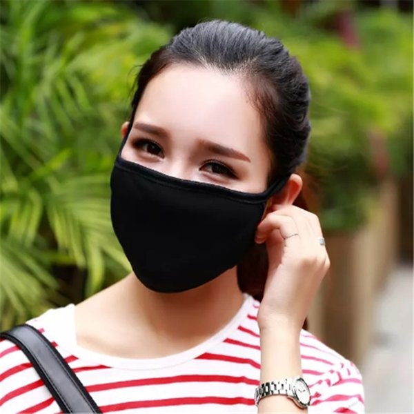 50pcs Anti-Dust Cotton Mouth Face Mask Unisex Man Woman Cycling Wearing Black Fashion High quality 2017092107ayq