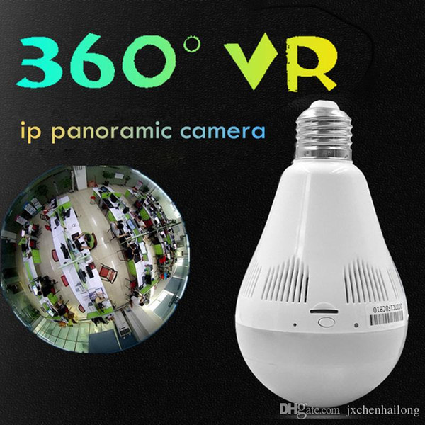 Bulb Light Wireless IP Camera Wifi FishEye 960P 360 degree Full View Mini CCTV Camera 1.3MP Home Network Security Camera Panoramic