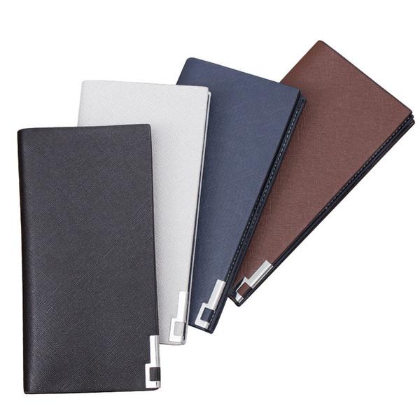 New Korean High - Grade Zipper Wallet Men 's Purse Long Paragraph Toothpick Pattern Soft Leather Wallet