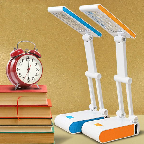 Students Mini Reading Desk Lamps 400mAh Battery Folding Rechargeable 14 LED Dimmable Table Lamps Adjustable Lamps ZJ0222