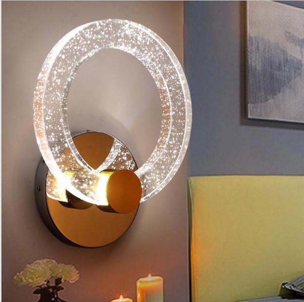Großhandel Hotelhalle Annulus LED Lampe Kristallwandleuchten Für Badezimmer  Schlafzimmer Modernes Gang Eingangs Verfassung LED Ringlicht Arandela ...