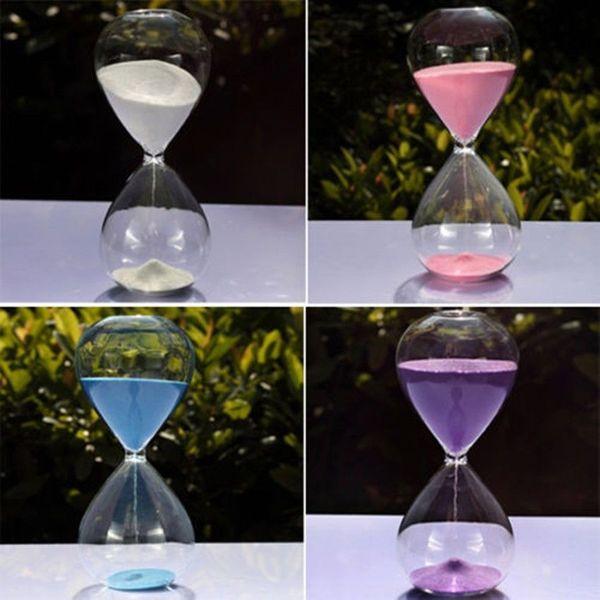 Цвета! 60мин песок стекло песочные часы Песочные часы таймер часы время декор уникальный подарок
