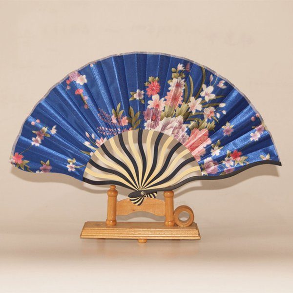 Wholesale-Chinese Dancing Bamboo Fan Silk Cloth Hand Make Wedding Gifts Christmas Decorations Birthday Folding Fan Event & Party Supplies