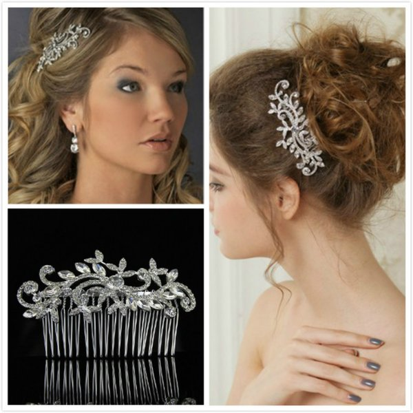Elegant Wedding Hair Comb Classic Bridal Hair Accessories Silver Plated  Head Pieces Party Women Head Decoration Hairstyle Accessories Hairstyle For
