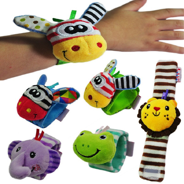 top popular Baby Rattles Soft Plush Toy Wrist Band Watch Band Bed Bells Baby Hand Bells Infant Appease Toys 2019