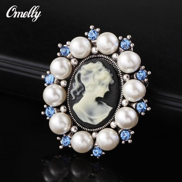 European Style Wedding Bouquet Brooch Pins Silver Rhinestone Faux Pearl Flowers Brooches Pins Gift Jewelry On Sale