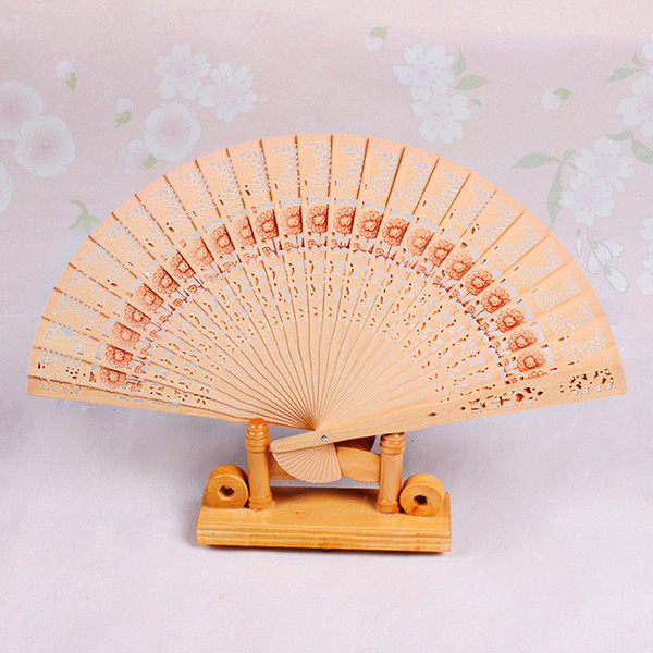 best selling Wooden Fans 8'' Chinese Sandalwood Fans Wedding Fans Advertising Bridal Accessories