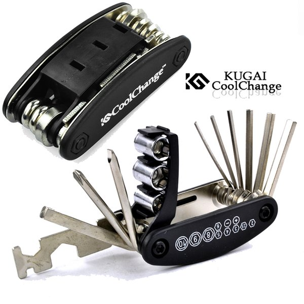 Coolchange 16 in 1 Bicycle Tools Sets Mountain Bike Bicycle Multi Repair Tool Kit Mountain Cycle Screwdriver Tool