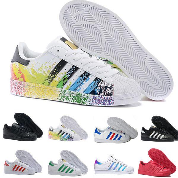 Promotion Homme New Style Adidas Superstar G Graffiti blanc