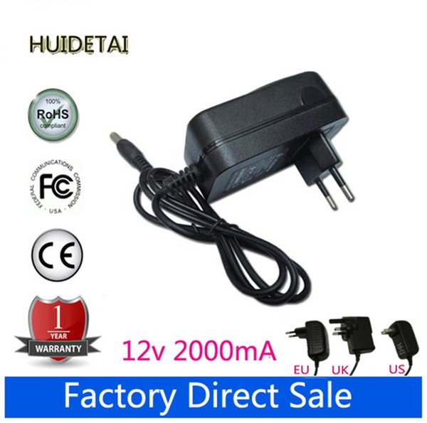 Wholesale- 12V 2A Universal AC DC Power Supply Adapter Wall Charger Replace For LA-1220 MOMO11 Tablet US UK AU UK Plug