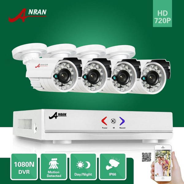 ANRAN Surveillance HDMI 4CH AHD 1080N DVR HD Day Night 1800TVL 24IR Waterproof Outdoor Camera CCTV Home Security Systems