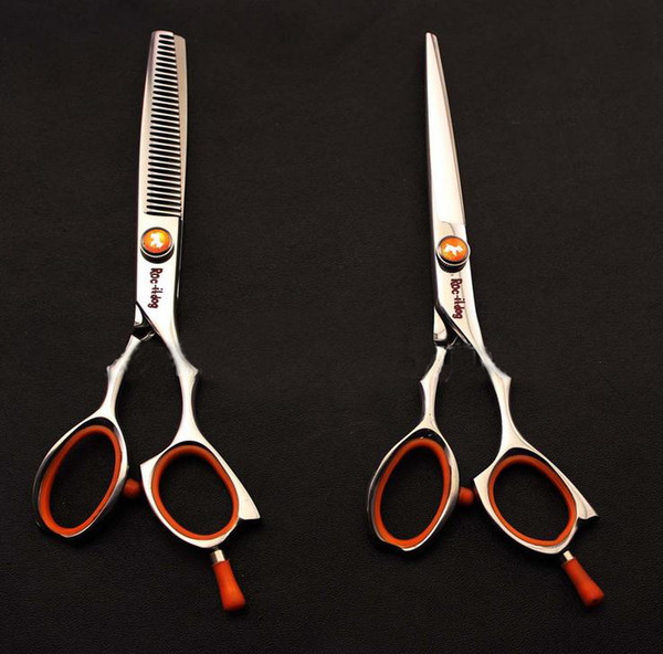 6 Inch Hairdressing Scissors Roc-it Dog Stainless Steel Professional Cutting Thinning Shears 1 Piece Free Shipping.