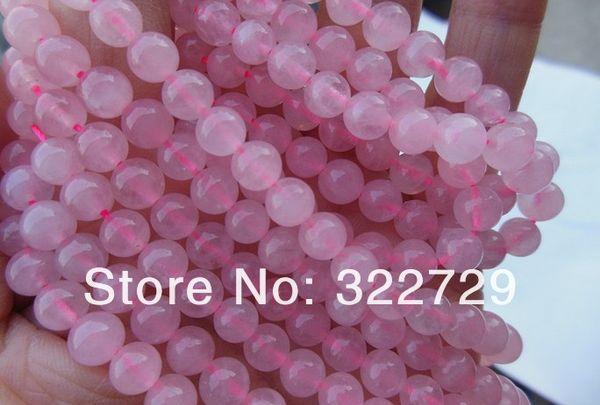natural stone DIY beaded jewelry 4 6 8 10 12 14 mm natural pink crystal gem loose beads ,Natural stone loose beads
