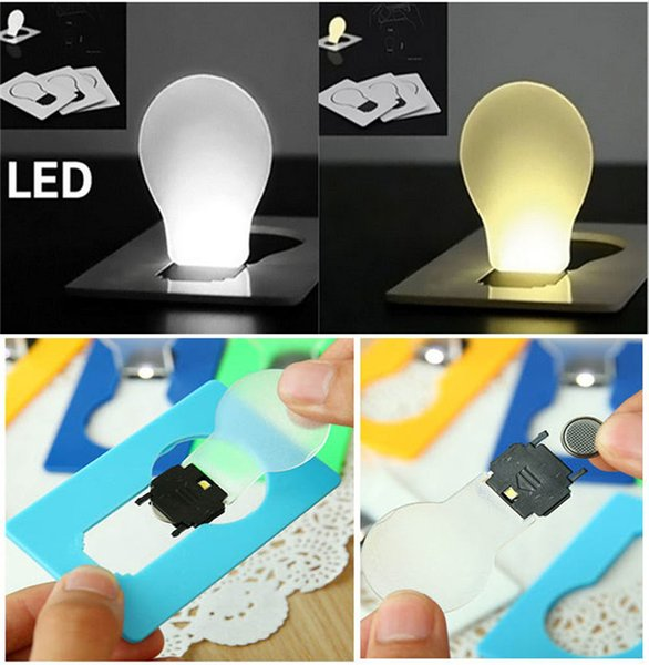 best selling LED Card Light Pocket Novelty Lamp LED Credit Card Portable Light Mini Light Put In Purse Wallet Emergency Portable