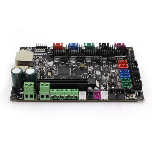 Freeshiping 3Dpriter Smoothieware controller board MKS SBASE V1.3 opensource 32bit Smoothieboard Arm support Ethernet preinstalled heatsinks