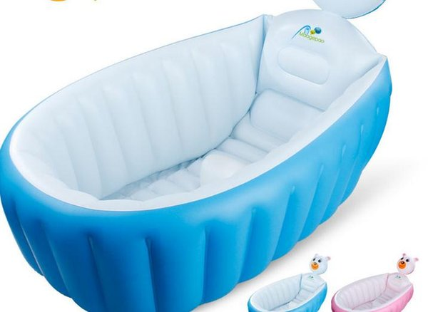 Retail Inflatable Baby Bathtub Newborns Bathing Tub Eco Friendly Portable Infant  Bath Basin 95*