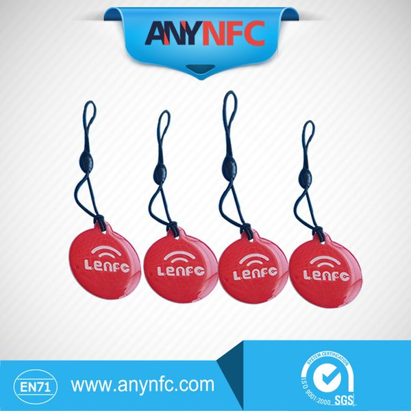 Wholesale- (4pcs/lot)Waterproof Ntag203 NFC Smart Label for Samsung Note3 S4 Nokia Lumia 920 Nexus 4/10 Oppo HTC * Free Shipping