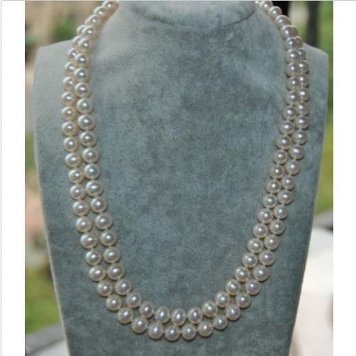 AAAAA 5-6 MM south sea white pearl necklace 35 inch 14K