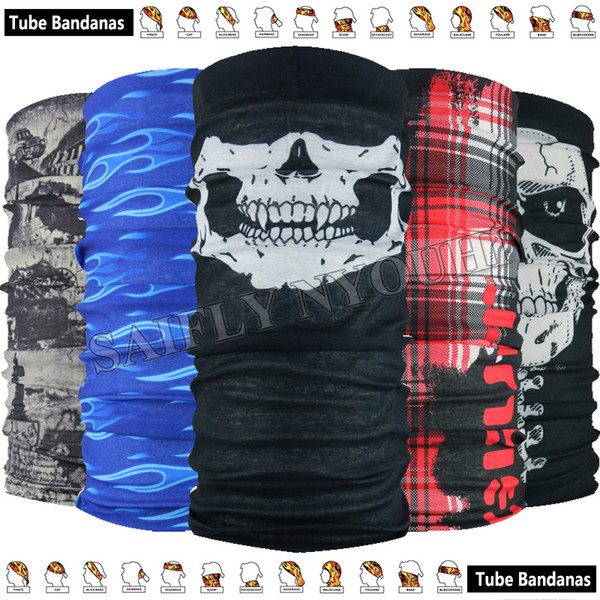 Retail Latest Outdoor Sports Scarves Sunscreen Bicycle Headband Skull Bandanas Multi Scarf Outdoor Multifunctional Seamless Headgear