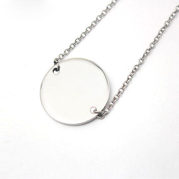 collier argent simple rond