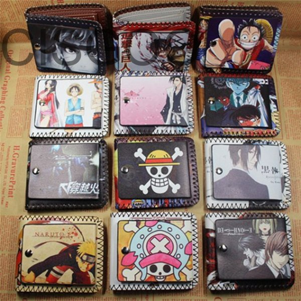 Wholesale- Fashion One Pieces PU leather Women Men Cute Cartoon Wallet Tokyo Ghoul Butler Card Holder Short Unisex Purse