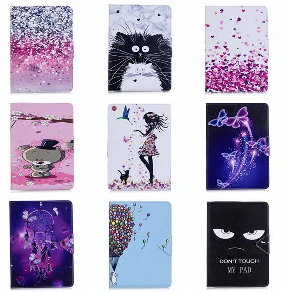 """Leather Pouch Case For Ipad Pro 10.5"""" 2017 Ipad Pro 9.7"""" Tablet Flower Stand Card TPU Cover Cartoon Butterfly Auto Wake Up Sleep Skin 1pcs"""