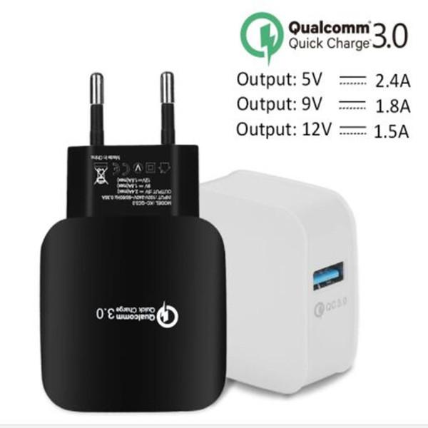 Caricatore da muro CA CA USB ricarica plug-in QC 3.0 EU US Plug per iPhone 7 7 Plus per Samsung s8