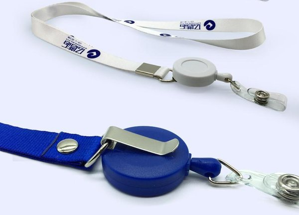 Retractable buckle badge lanyard retractable lanyard sling badge lanyards badge work permit lanyard sling card printers