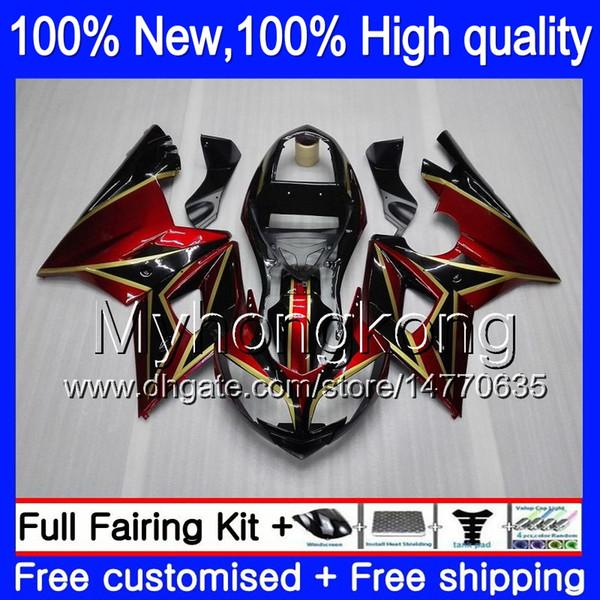 Triumph İçin Vücut Kırmızı Kaplamalar Daytona 600 03 05 650 03 04 05 Daytona600 6MY0 Daytona650 Daytona 650 600 Kırmızı altın 2003 2004 2005 Fairing
