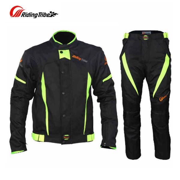 Sürme Kabile Kış Motosiklet Touring Yarış Giyim Seti Erkekler Rüzgar Geçirmez Su Geçirmez Termal Sıcak Sürme Ceket Pantolon Suit