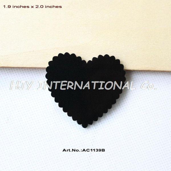 Toptan- (24 adet / grup) 50mm Akrilik Siyah Kalpler Broş Kesme Parti Karalama Defteri 2 inç-AC1139B