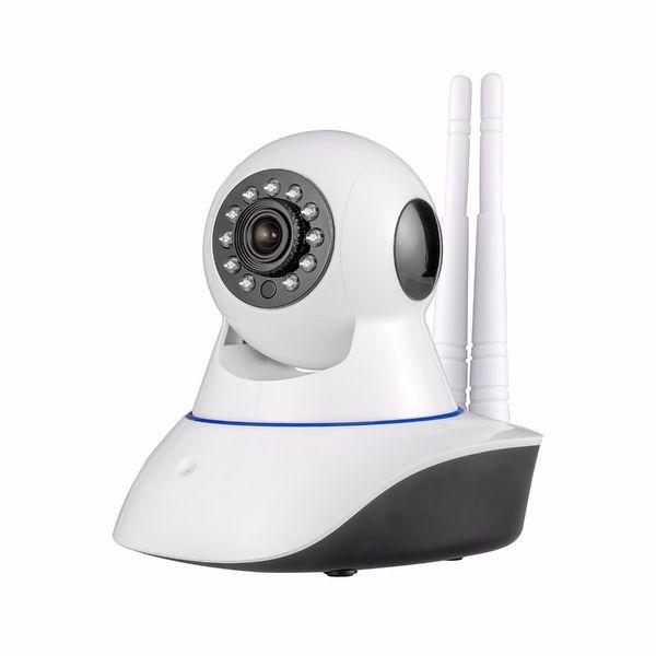 Double antenna Camera wireless IP camera WIFI Megapixel 720p HD indoor Wireless Digital Security CCTV IP Camera + 64G TF memory card 1PCS