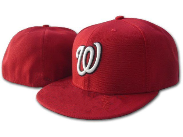 561a5296ee8 ... france hot sale red washington nationals fitted cap embroidery w logo  mens sports baseball caps hiphop