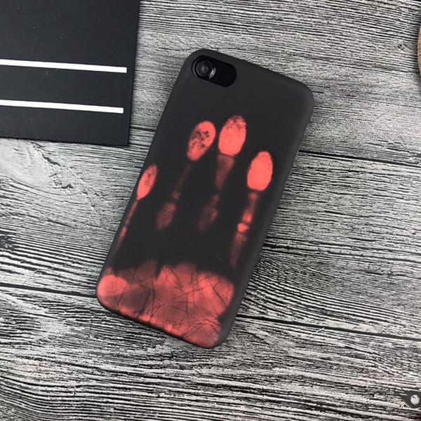 2019 Farbwechsel Fall Magische PU Fingerabdruck Kreative Handy-fällen Back Cover Temperature Sensing Thermische Wärme Shell