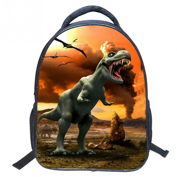 2016 Animal Pattern Design 3D Cute Dinosaur School Bag Anti-lost Backpack Kids Kindergarten Bag for Children Boys Girls