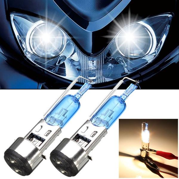 best selling 2pcs BA20D 50W Car Motorcycle Halogen HID Headlight Light Lamp Bulb Moped Scooter Motobike Headlamp Natural White 12V