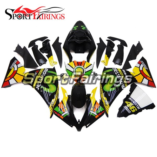 Injection Fairings For Yamaha YZF1000 R1 2012 2013 2014 12 13 14 ABS Plastic Motorcycle Fairing Kit Sportbike Body Kit Black Green Covers
